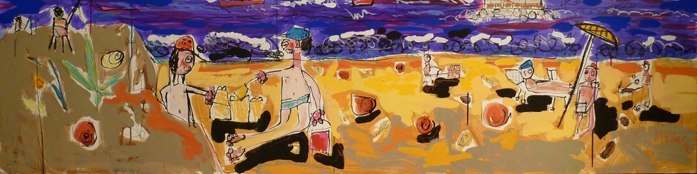 Thierry Virton – contemporary painter - free figurative painting - outsider art
