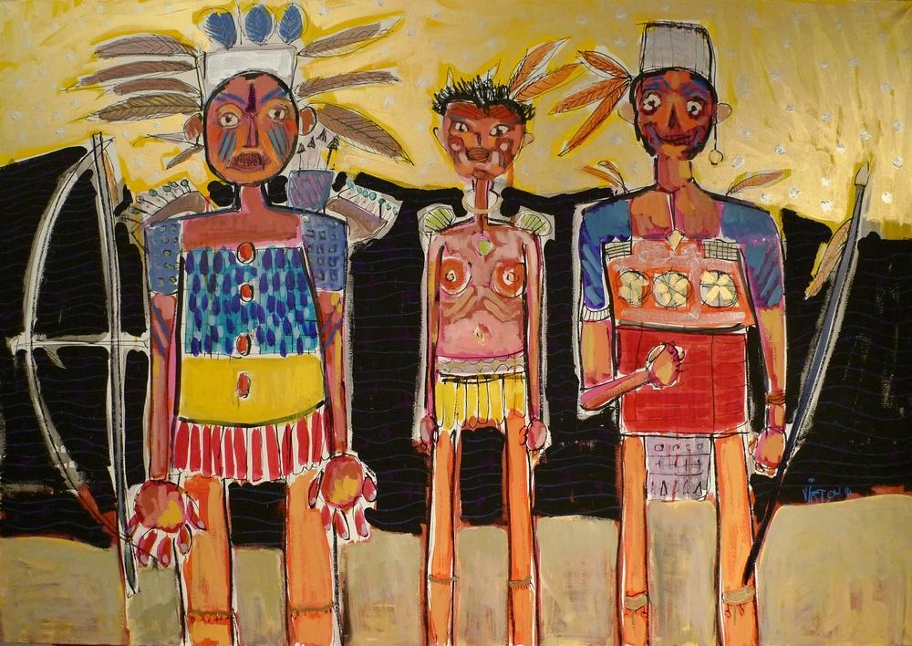Les indiens - Art Brut - Outsider Art