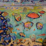 lespoissons-peinturepaysagesous-marin-artbrut-outsiderart