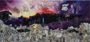 bluenight-virton-outsiderartpainting-self-taught-narrativepainting-primitivism-humanfigure