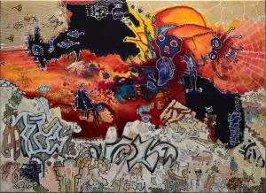 fishiesinsky-virton-outsiderartpainting-primitivism-self-taught-humanfigure-narrativepainting