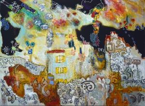 thevillage-virton-outsiderart-humanfigures-hybridsimaginarycreatures-narrativepainting-primitivism-self-taught